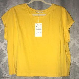 NWT Zara Mustard Yellow Shirt